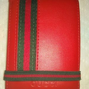Red Leather Gucci Wallet